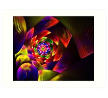 Colorful Spiral to the Bottom Art Print