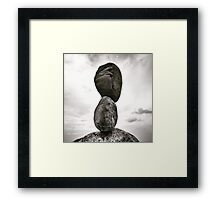 Rock Tower Framed Print