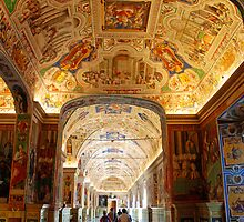 Hallway to the Vatican Museums by Renee Hubbard Fine Art Photography