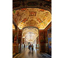Hallway to the Vatican Museums Photographic Print