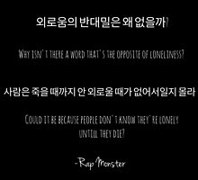 RAP MONSTER QUOTES♥ by armywill17