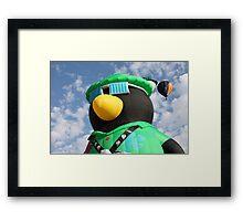 Penguin Balloon Framed Print