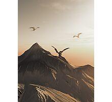 Dragon Peak at Sunset Photographic Print