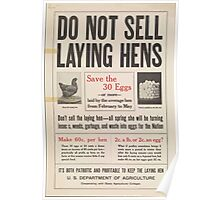 United States Department of Agriculture Poster 0099 Do Not Sell Laying Hens Save Thirty Eggs Poster