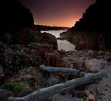 Birubi Point sunrise by Bill Atherton