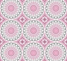 Kaleidoscope Flowers in Mauve, Pink and Gray by Mercury McCutcheon