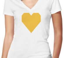 MU Gold Women's Fitted V-Neck T-Shirt