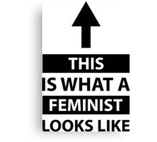 This Is What A Feminist Looks Like with arrow Canvas Print