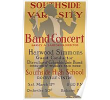 WPA United States Government Work Project Administration Poster 0613 Southside Varsity Band Concert Poster