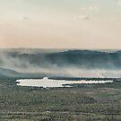 Bushfire On Arnhem Land, an ariel view by Pauline Tims