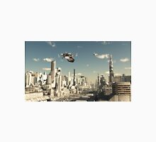 Landing in a Future City Unisex T-Shirt