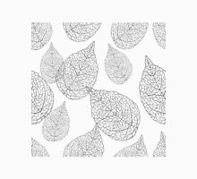Gray Tones Abstract Leafs Pattern Unisex T-Shirt