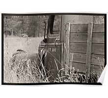 Old Work Truck Sitting In A Field Poster