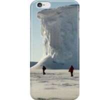 Walking at the Drygalski Ice Tongue, Antarctica iPhone Case/Skin