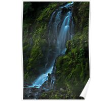 Blue waterfall fine art photography Poster