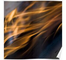 Orange flame fine art photography Poster