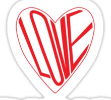 Til the Love Runs Out - Black & Red Sticker