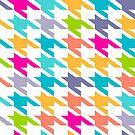 Colorful Houndstooth Seamless Patter by artonwear
