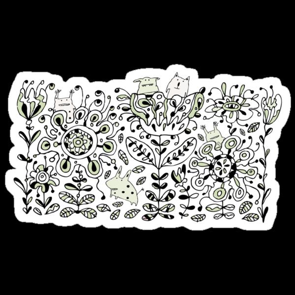 Fun Flower Monsters by Carla Martell
