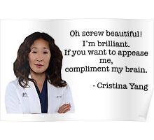 Cristina Yang Quote Poster