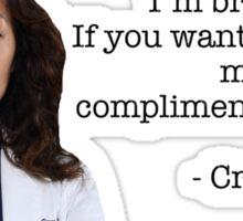 Cristina Yang Quote Sticker
