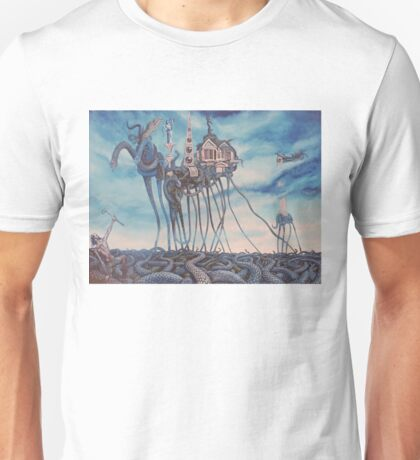 Temptation of a Snakeman- After Dali Unisex T-Shirt