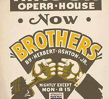 WPA United States Government Work Project Administration Poster 0449 Mason Opera House Brothers Herbert Ashton Junior by wetdryvac