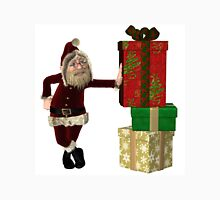 Santa Claus with pile of Christmas Gifts Unisex T-Shirt