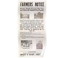 United States Department of Agriculture Poster 0074 Practice Double Cropping Add Nation's Food Supply Poster