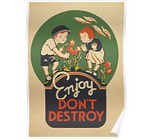 WPA United States Government Work Project Administration Poster 0953 Enjoy Don't Destroy Poster