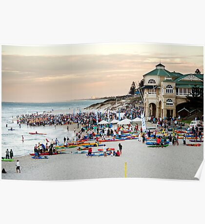 Cottesloe Beach, start of the Rottnest Channel Swim Poster