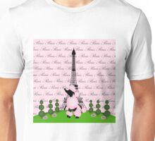 Pink Poodle Eiffel Tower Unisex T-Shirt