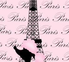 Pink Poodle Eiffel Tower Sticker