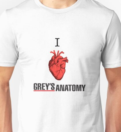 I love Grey's Anatomy Unisex T-Shirt