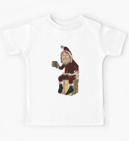 Santa Claus Having a Tea Break Kids Tee