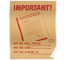 United States Department of Agriculture Poster 0133 Important Meat Dealer Butcher Need for Fats Poster