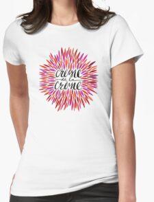 Crème de la Crème – Pink Palette Womens Fitted T-Shirt