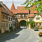 The medieval West Gate, Prichsenstadt, Franconia, Germany. by David A. L. Davies