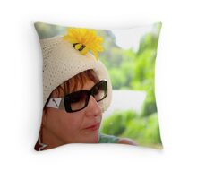 Daisy Lady Throw Pillow