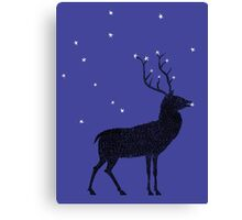 Stag grazing on the stars Canvas Print