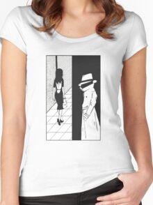 Noir. Women's Fitted Scoop T-Shirt
