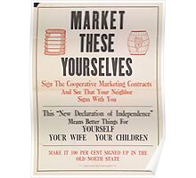 United States Department of Agriculture Poster 0256 Market These Yourselves Poster