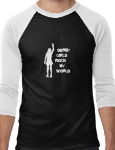 Derby Girls Rock My World Men's Baseball ¾ T-Shirt