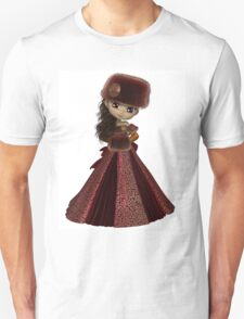 Toon Winter Princess in Red Unisex T-Shirt
