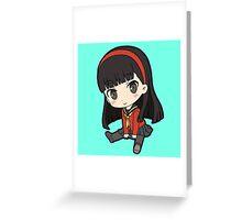 Yukiko Amagi Chibi Greeting Card