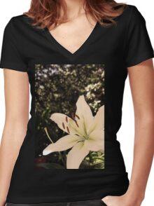 Flower 07 Women's Fitted V-Neck T-Shirt