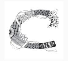 Zentangle®-Inspired Art - Tangled Alphabet - C One Piece - Long Sleeve