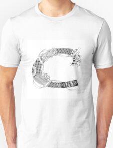 Zentangle®-Inspired Art - Tangled Alphabet - C T-Shirt