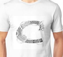 Zentangle®-Inspired Art - Tangled Alphabet - C Unisex T-Shirt