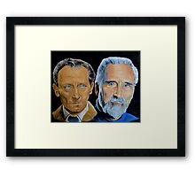 Peter Cushing and Christopher Lee Framed Print
